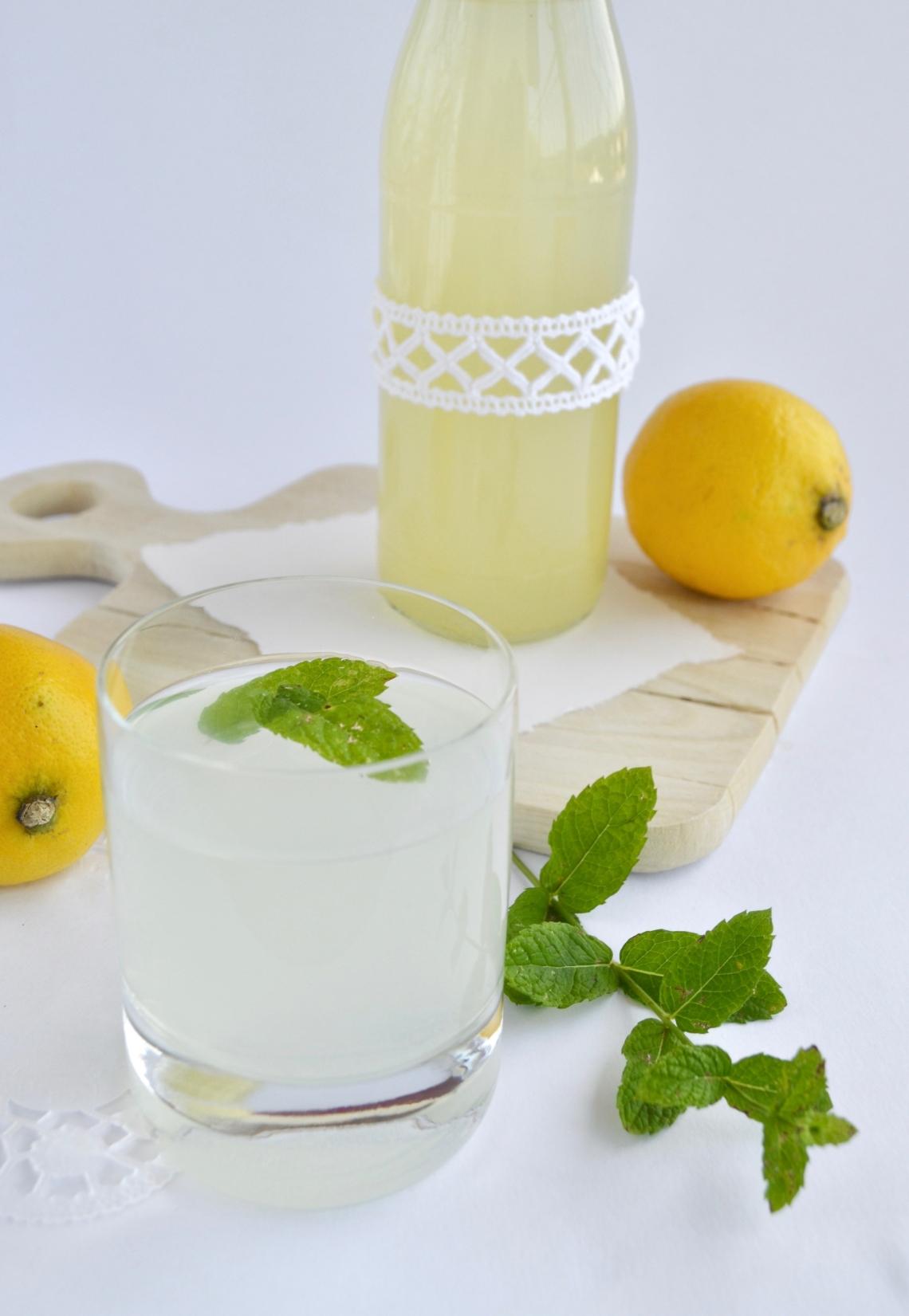 Zitronen-Minz-Sirup